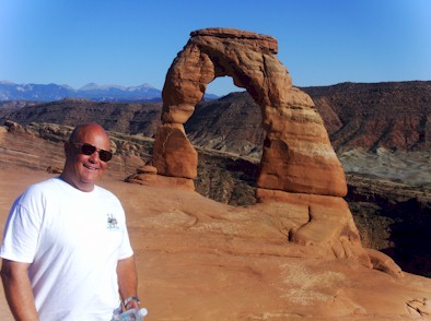 Tim at Arches