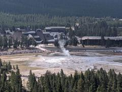 Old Faithful observation point hike