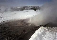 Yellowstone winter snowmobile tour